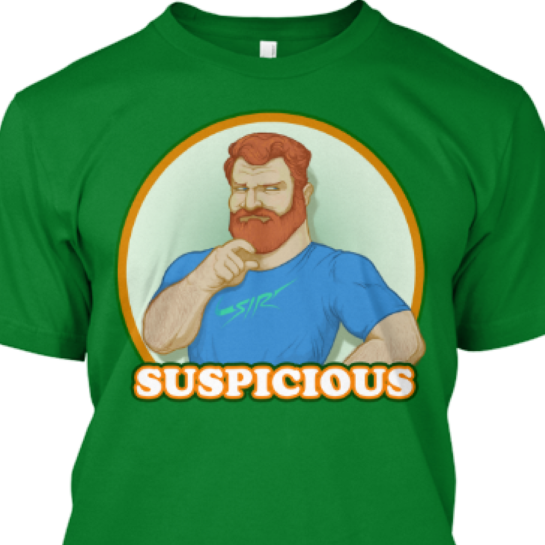 Suspicious T-shirt – Clarence0 Weightlifting